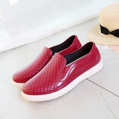 Comfy PVC Rain Shoes Slip-On Loafers