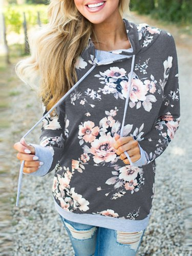 Printed Casual Polyester Hoodies