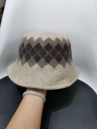 Wool Hat Female Autumn and Winter Korean Version of Retro Literary Fisherman Hat To Keep Warm.