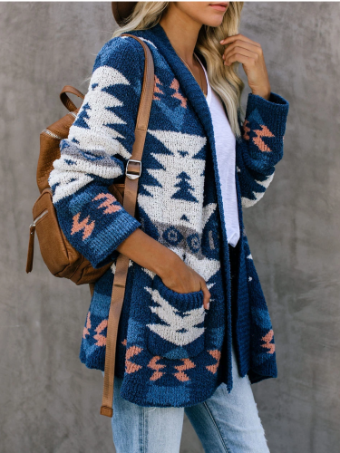 Tribal Shift Long Sleeve Casual Cardigan