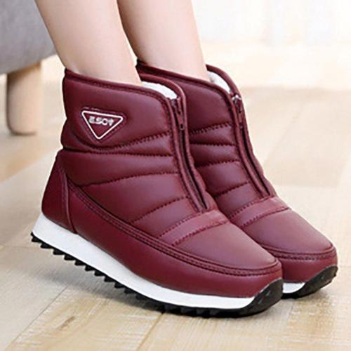 Winter Zipper Waterproof  Non-slip Snow Boots