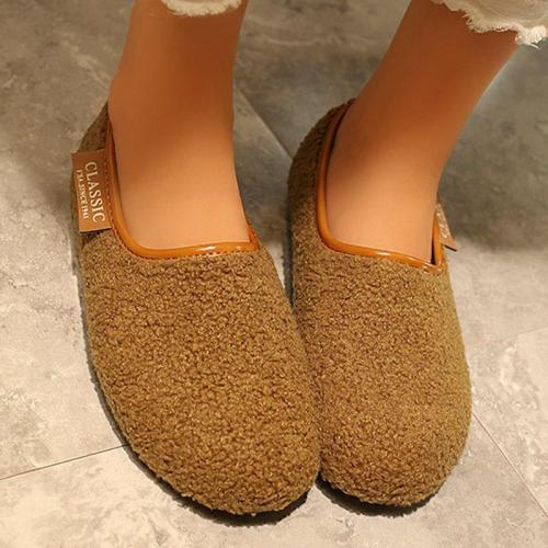 Women's Soft Round Toe Flat Casual Pregnant Winter Plus Size Shoes