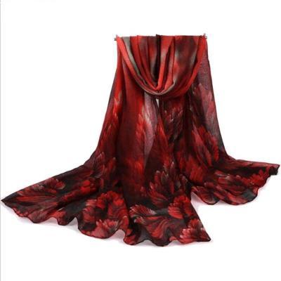 Fashion Women  Wraps Voile Scarves Print Flower Design Long Shawls