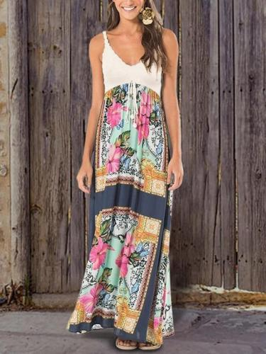Beach Holiday Bohemian Print Pattern Dress