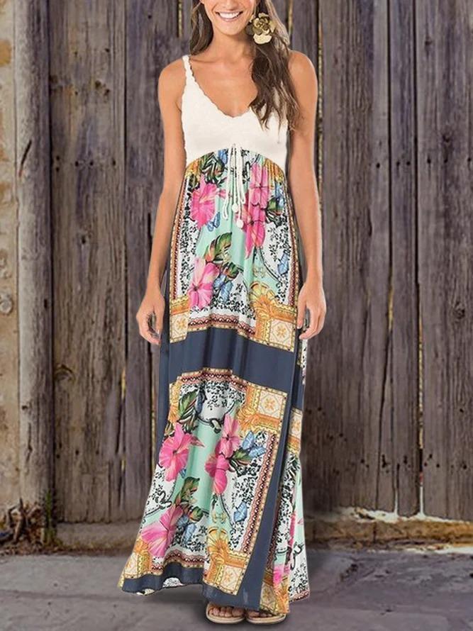 Beach Holiday Bohemian Print Pattern Dress