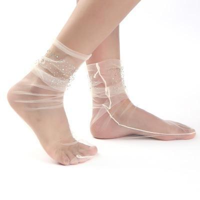 Handmade Lace Fashion Mesh Tulle Women's Socks