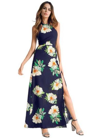 Women's Long Dress Sleeveless Chiffon Dress