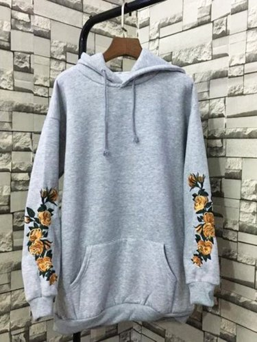 Long Sleeve Hoodie Cotton Outerwear