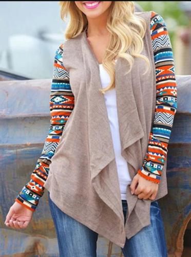 Cotton-blend Paneled Geometric Long Sleeve Coat