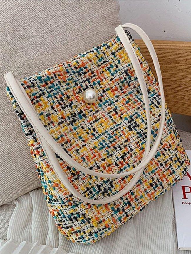 Cotton Magnetic Shoulder Bags