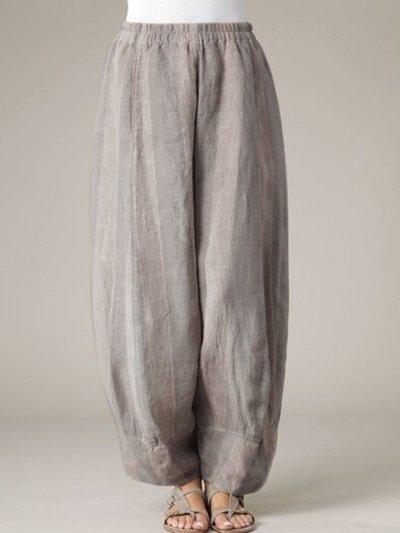 Cotton Paneled Holiday Pants
