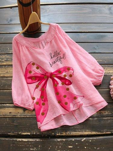 Pink Short Sleeve Linen Shirts & Tops
