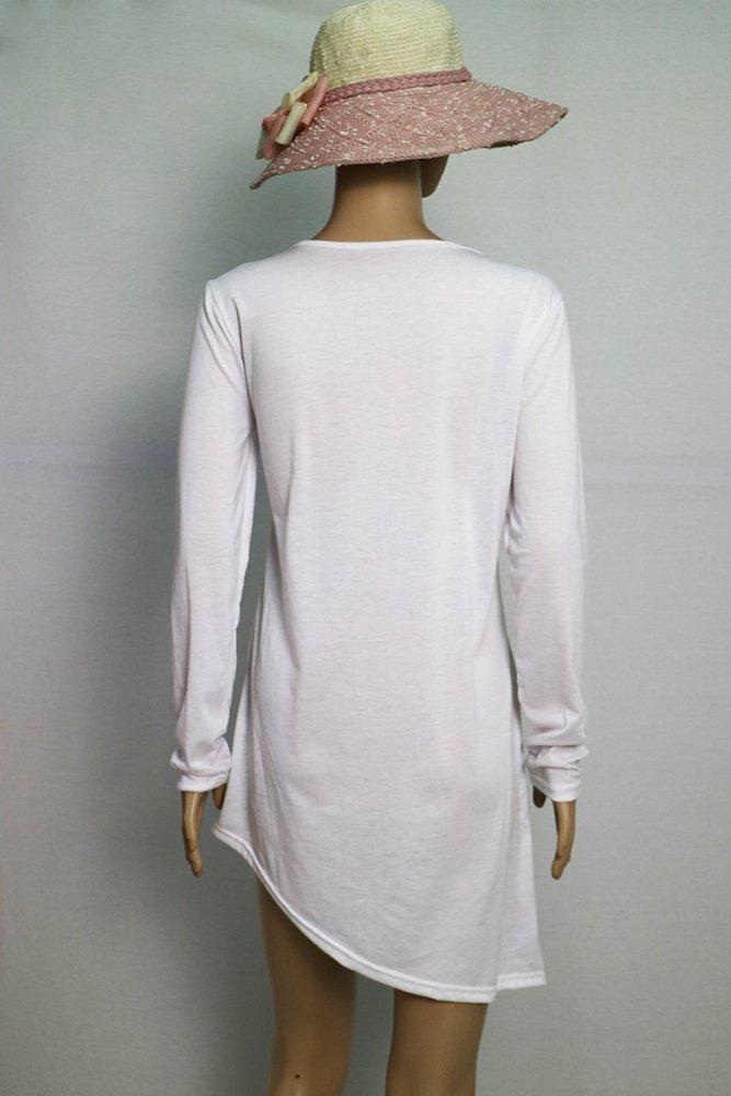 Color Block Plain Long Sleeve Cotton-Blend Blouse & Shirts
