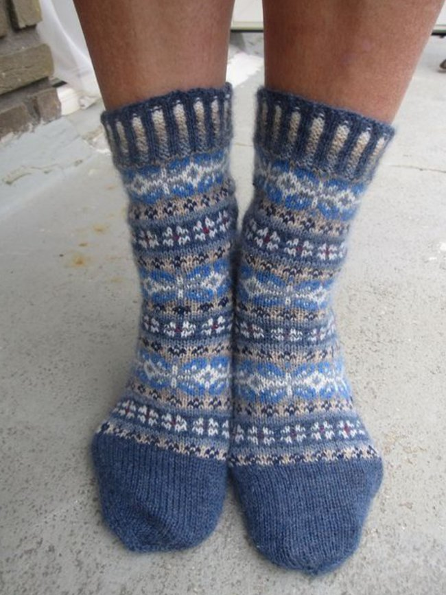 Casual Floral Knitted Underwear & Socks