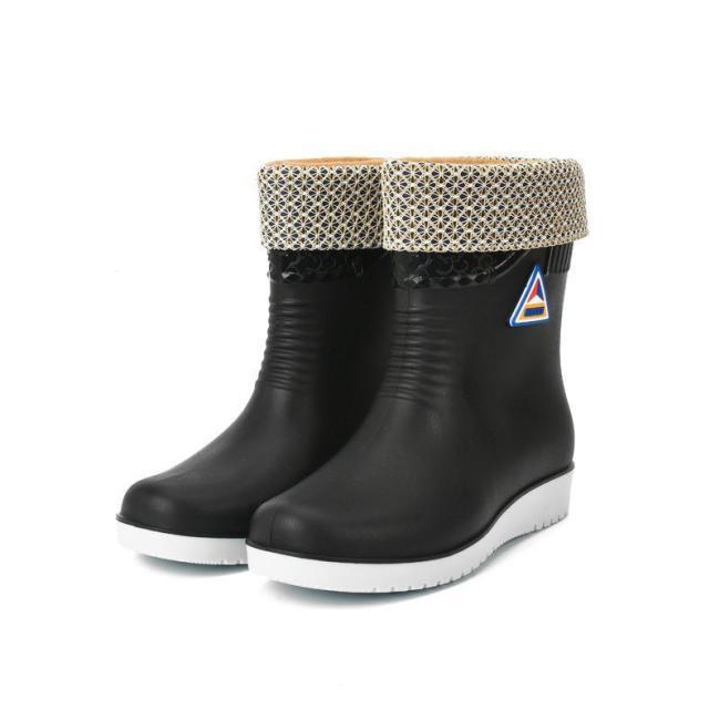 PVC All Season Flat Heel Rain Boot
