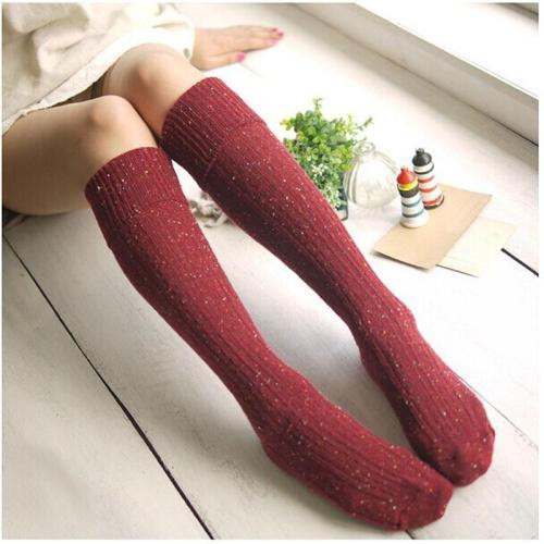 Cute Overknee Socks Winter Autumn Warm Knee High Stockings