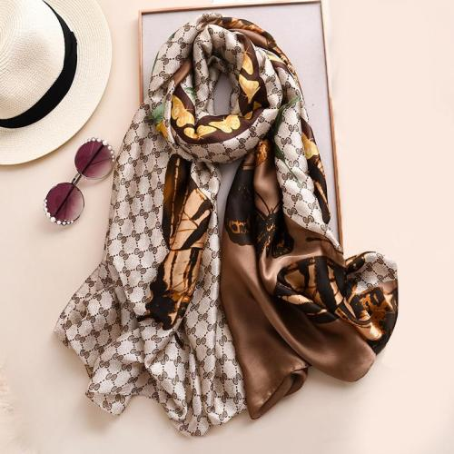 Silk Scarves Summer Women Shawls Beach