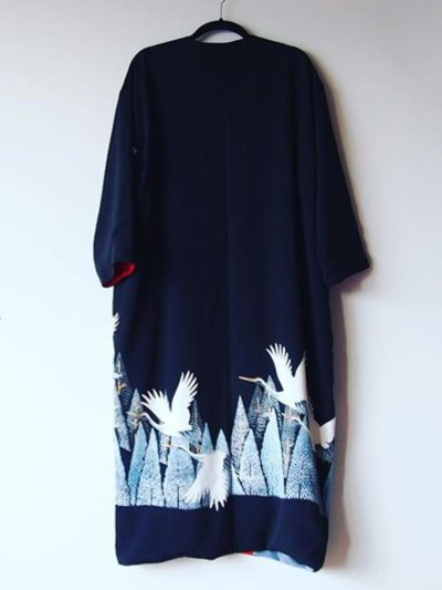 Plus Size Vintage Long Sleeve Printed Outerwear