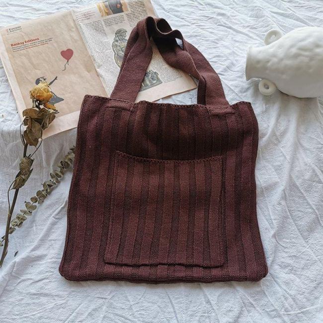 One-shoulder Women's Knit Bags