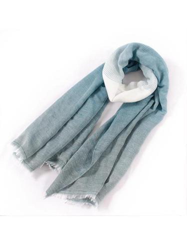 Soft Cotton Scarf Shawls and Wraps Pashmina Gradient color Autumn Winter Scarf