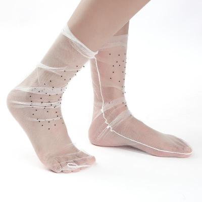 New Drill Transparent Mesh Yarn Ladies Socks Sweet Fashionable Socks