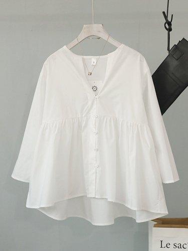3/4 Sleeve V Neck Shirts & Tops