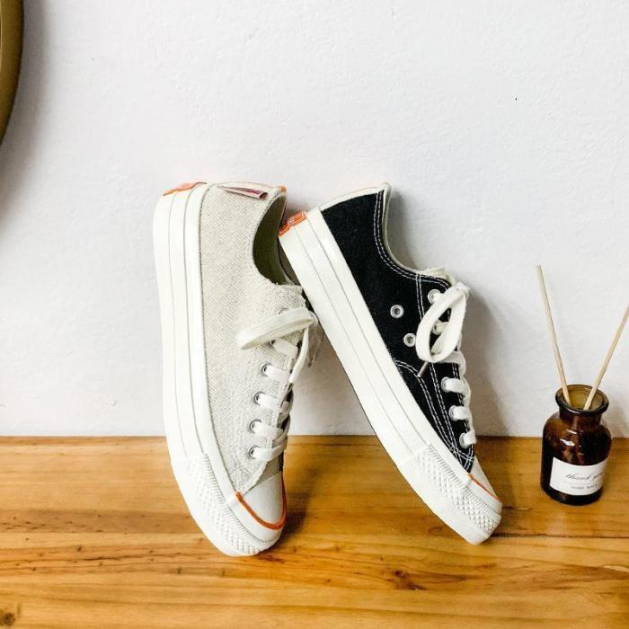 Women's Fashion Casual Wild Color Matching Round Toe Sneakers