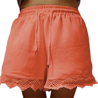 Causal Shorts Women Plus Size High Waist Shorts Drawstring Short Pants Loose Shorts Pants