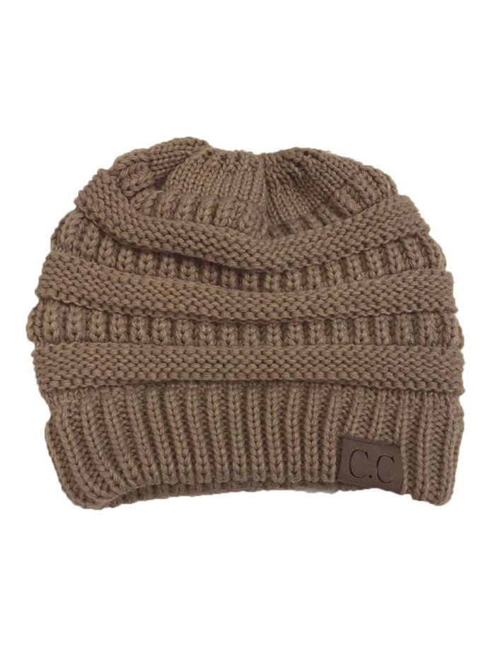 Patch Casual Solid Knitted Cap