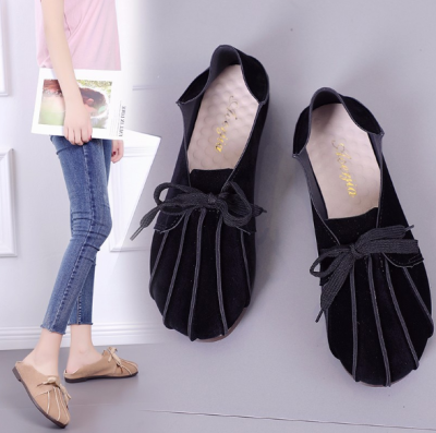 Solid Color Lace-up PU Flat Heel Casual Loafers