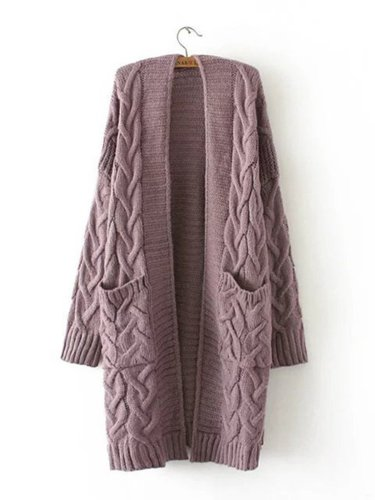 Casual Polyester Paneled Quilted Coat