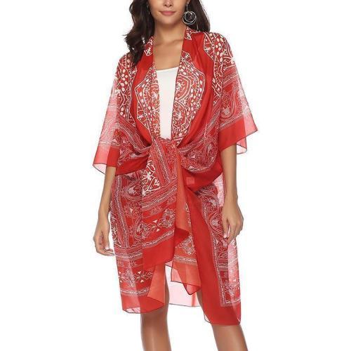 Casual Loose Bohemian Style Printing Sunscreen Cardigan