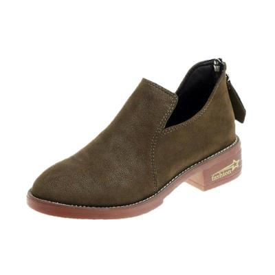 Women Ankle Booties Zipper Casual Shoes