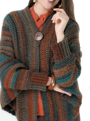 Multicolor Long Sleeve Knitted Vintage Cardigans