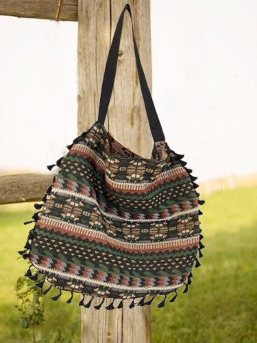Green Cotton Crossbody Bags