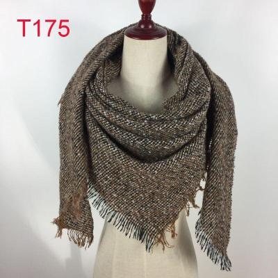 2020 new Triangle scarf neckerchief Winter blanket plaid Designer Unisex cashmere Acrylic Basic Shawls Women's Scarves