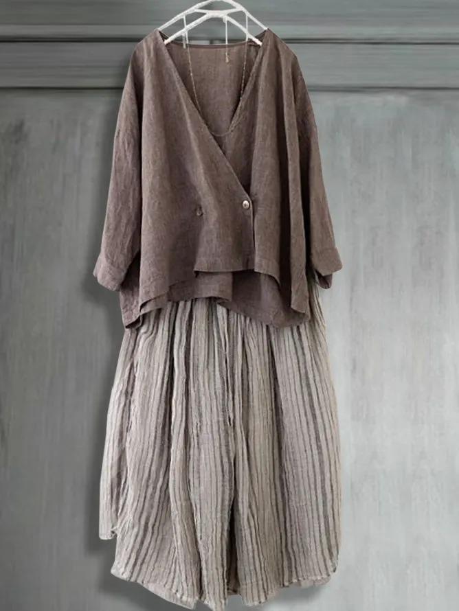 Casual loose summer cardigan top