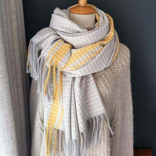 Autumn Winter Female Wool Plaid Scarf Women Long Shawl Wrap Blanket Warm Scarfs