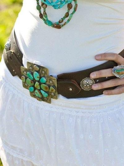 Blue Boho Alloy Belts