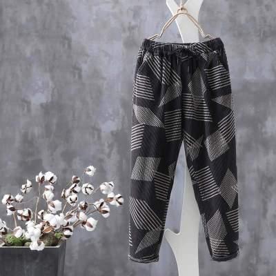 Women's Harem Pants 2020 Trousers Casual Elastic Waist Long Turnip Female Printed Streetwear Pantalon