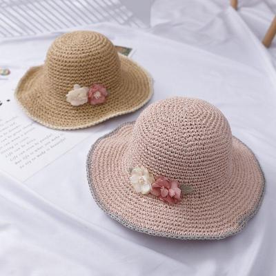 Handmade Weave Flower Sun Hats for Women Summer Women Outdoors Sunshade Straw Hat Beach Hat