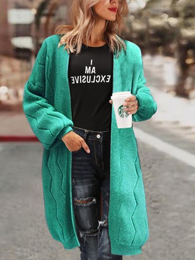 Sweet Long Sleeve Solid Knitted Winter Cardigans