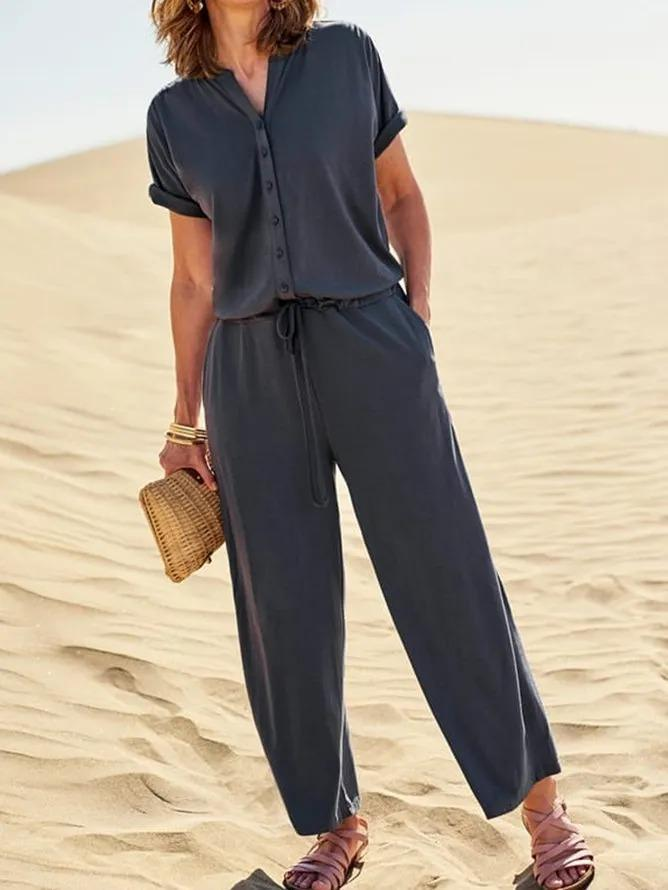 Casual Plus Size Jumpsuit Overalls One-Pieces