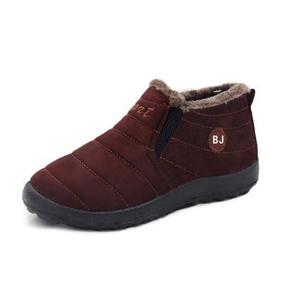 Women Snow Slip On Booties Casual Comfort Warm Shoes