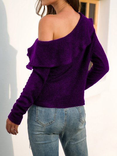 Off Shoulder Long Sleeve Backless Sexy Sweaters