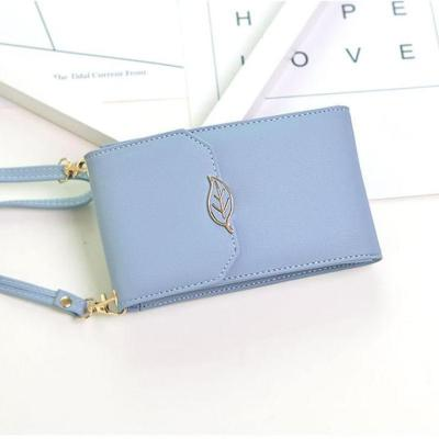 Fashion Leaf Women Cell Phone Bag Purse