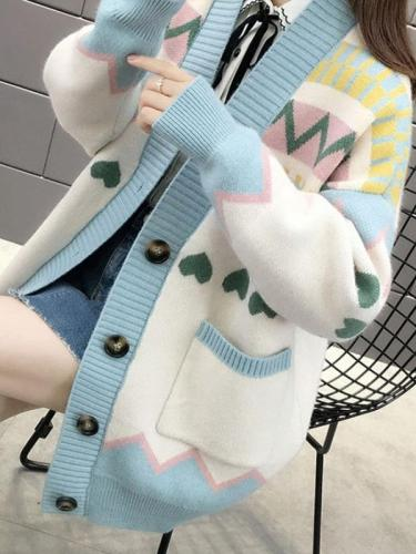 Lazy Breeze Loose Oversized Knitted Sweaters Jacket