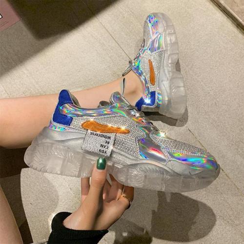 Crystal Colorful Platform Old Shoes