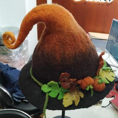 Handmade Wool Felt Hat Adult Child Wizard Magic Elf Hat