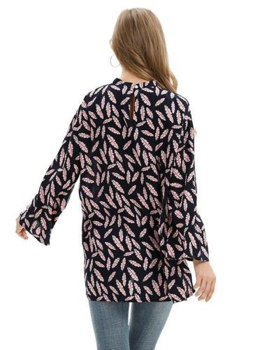 As Picture Casual Asymmetrical Cotton-Blend Shirts & Tops